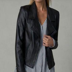 Black Faux Leather Motorcycle Jacket (Unworn)